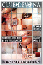 """8.5""""x11"""" Event Flyer in two colors - 169"""