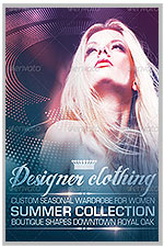 """8.5""""x11"""" Event Flyer in two colors - 198"""