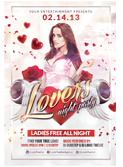 Valentines Traffic Light Party Flyer + FB Cover - 132