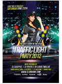 Valentines Traffic Light Party Flyer + FB Cover - 119