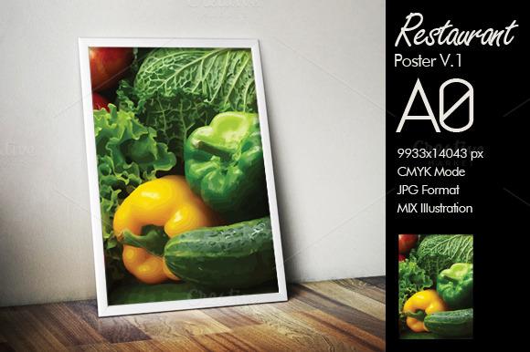 Vegetarian A0 Poster