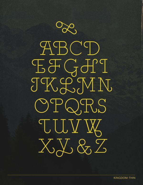Alphabet Typo Kingdom Type Design On Typography Served