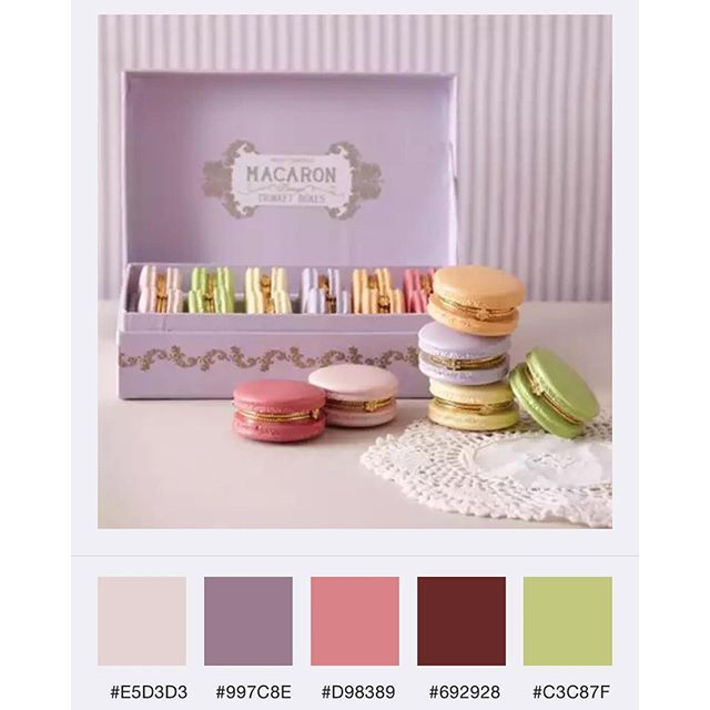 Knitting Color Design Inspiration From Around The World : Color inspiration quot i love these little macaron limoges