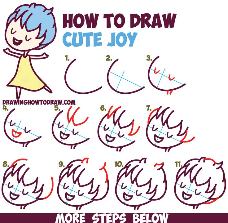 Draw pattern how to draw cute kawaii chibi joy from for Cute easy patterns to draw