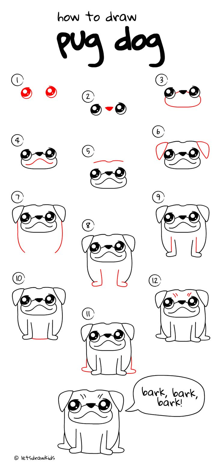 Draw Pattern How To Draw Pug Dog Easy Drawing Step By Step Perfect For Kids Let S Draw Ki Codesign Magazine Daily Updated Magazine Celebrating Creative Talent From Around The World