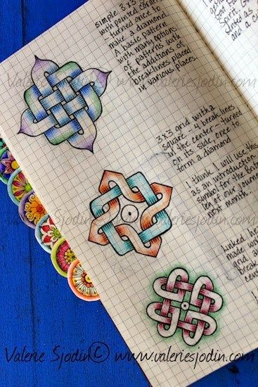 Calendar Drawing Design : Draw pattern key to drawing celtic knots made easy in