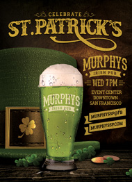 Design Cloud: St. Patrick's Day Event Flyer Template
