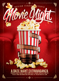 Design Cloud: Movie/Date Night Flyer Template