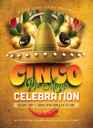 Design Cloud: Cinco De Mayo Flyer Template