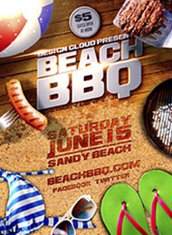 Design Cloud: Beach BBQ Flyer Template