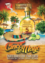 Design Cloud: Cinco de Mayo Beach Party Flyer Template