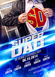 Design Cloud: Super Dad Flyer Template