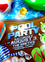 Design Cloud: Pool Party Flyer Template