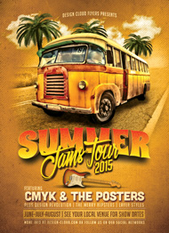 Design Cloud: Summer Jams Tour Poster/Flyer Template