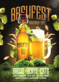Design Cloud: Brewfest Flyer Template