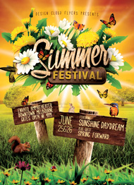 Design Cloud: Summer Festival Flyer Template