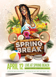 Design Cloud: Spring Break Flyer Template