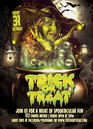 Design Cloud: Trick or Treat Halloween Flyer Template Flyer Template