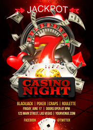Design Cloud: Casino Night Flyer Template