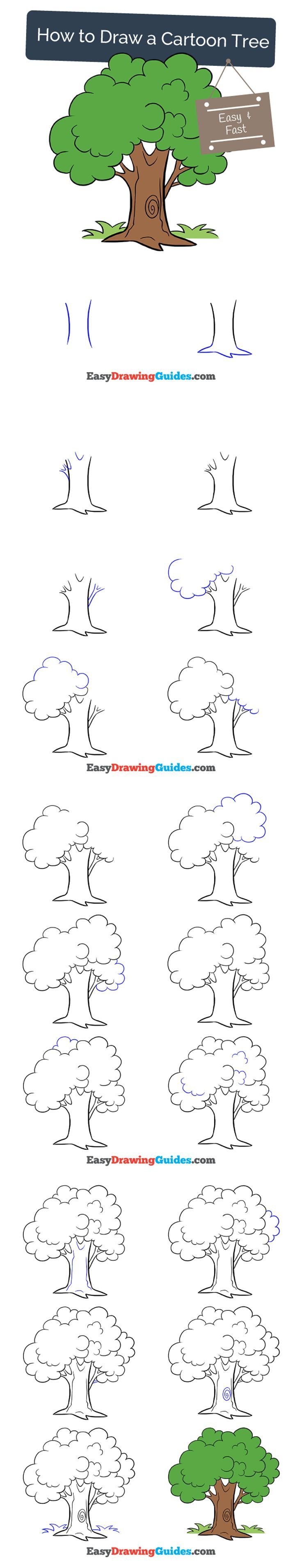 Draw Pattern Learn How To Draw A Cartoon Tree Easy Step By Step Drawing Tutorial For Kids An Codesign Magazine Daily Updated Magazine Celebrating Creative Talent From Around The World See more ideas about tree drawing, tree drawing simple, tree. easy step by step drawing tutorial for