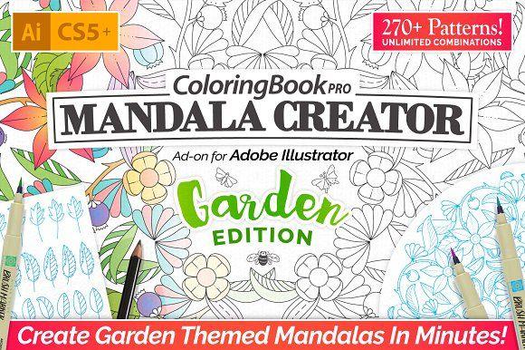 Graphic design ideas coloring book pro garden edition for Garden design books 2017