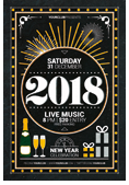 Christmas and New Year Flyer Bundle - 16