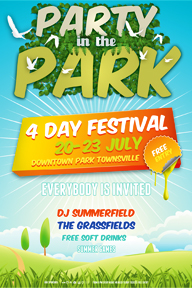 Colourful Party Promotional Flyer Template - 3