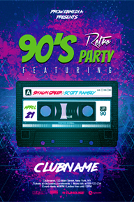 Colourful Party Promotional Flyer Template - 11