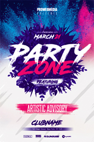 Colourful Party Promotional Flyer Template - 14