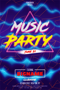Colourful Party Promotional Flyer Template - 101