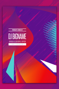Colourful Party Promotional Flyer Template - 108
