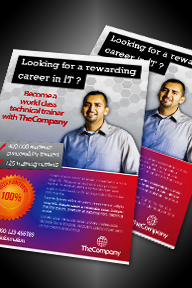 Computer IT Services Advertising Flyer Magazine Ad - 123