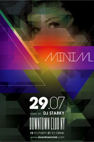 Colourful Party Promotional Flyer Template - 127