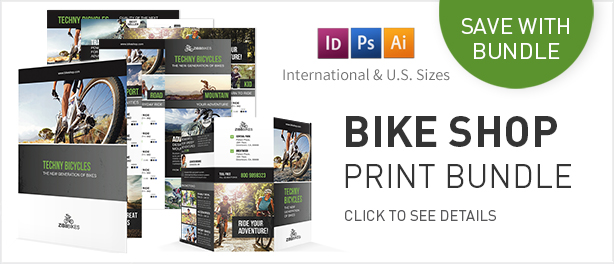 Bicycle Shop Flyers – 4 Options - 1
