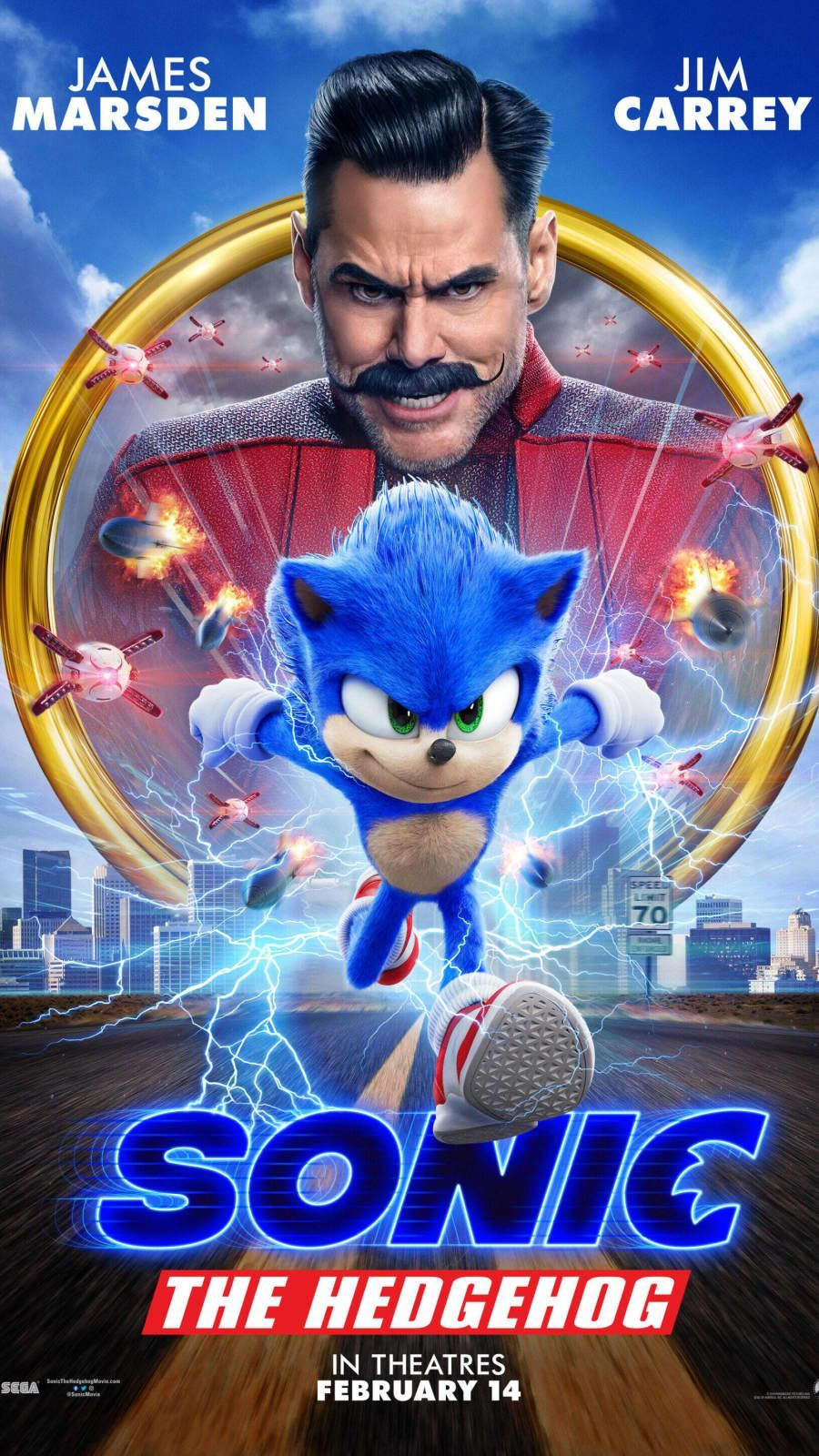 sonic the hedgehog movie poster   'Sonic The Hedgehog' Movie Sets ...